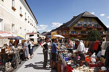 Flea market in Mariapfarr, Lungau, Salzburg state, Salzburg, Austria, Europe