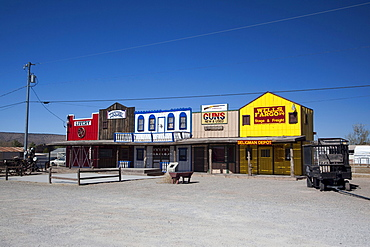 Souvenir shops on the historic Route 66, Antares, Kingman, Arizona, USA, North America