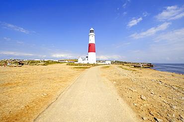 Portland Bill lighthouse on the Isle of Portland, Dorset, England, UK, Europe