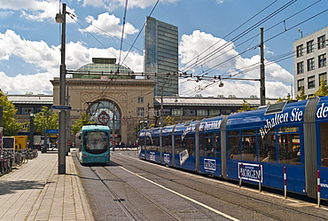 Central station, Mannheim, Baden-Wuerttemberg, Germany, Europe
