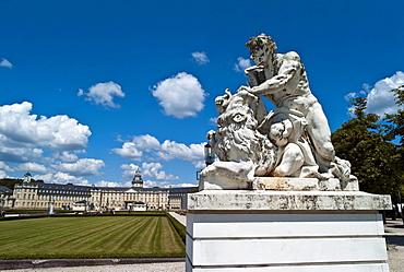 Sculpture of Hercules, Karlsruhe Palace, Baden State Museum since 1921, Karlsruhe, Baden-Wuerttemberg, Germany, Europe