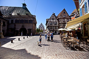 Place de l'Ancienne Douane, historic town centre of Colmar, Alsace, France, Europe