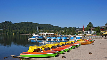 Boat hire, Titisee-Neustadt, Black Forest, Baden-Wuerttemberg, Germany, Europe