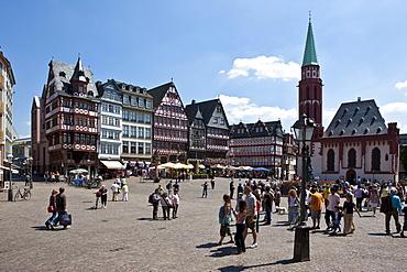 Frankfurter Roemer, City Hall Square, Frankfurt am Main, Hesse, Germany, Europe