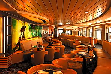"Passenger lounge on the ""Seafrance"" car ferry Calais-Dover, Calais, France, Europe"