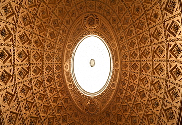 Decorative cupola, detail, in the reception hall of Stowe School, private school since 1923, architecture from 1770, Classicism, Stowe, Buckingham, Buckinghamshire, England, United Kingdom, Europe