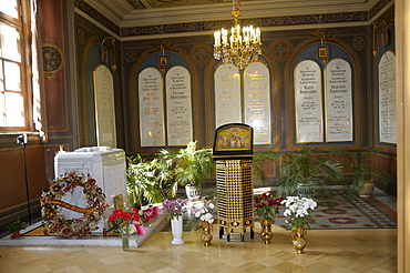 Grave slabs of the imperial family, Peter and Paul Cathedral, Peter and Paul Fortress, Saint Petersburg, Russia, Europe