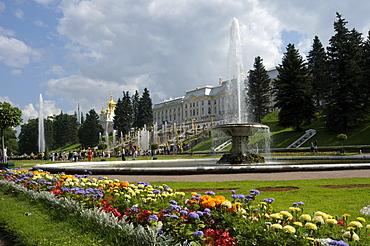 Palace, Peterhof, Petrodvorez, Saint Petersburg, Russia, Europe