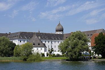 Frauenwoerth Abbey, Fraueninsel, Lady's Island, Lake Chiemsee, Bavaria, Germany, Europe