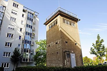 Memorial Guenter Litfin for the first person shot dead at the Berlin Wall, Kieler Strasse street at the Berlin-Spandau Schifffahrtskanal channel, Berlin, Germany, Europe