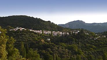 Vourliotes, Greek mountain village on the northern coast of the Greek island of Samos, Eastern Aegean Sea, Greece, Europe