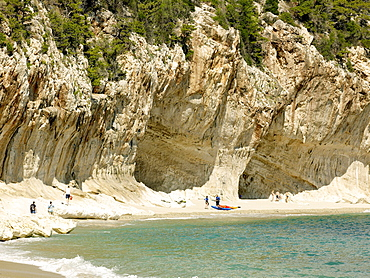 Beautiful bay of Cala Goloritze at the Gulf of Orosei, eastern coast of Sardinia, Italy, Europe