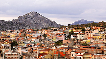 Sardinian mountain village Dorgali in the rocky plateau Supramonte, east coast of Sardinia, Italy, Europe