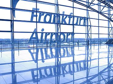 Departure hall in Terminal 2, Frankfurt Airport, Frankfurt am Main, Hesse, Germany, Europe