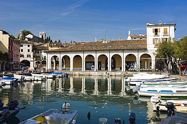 Harbour, Desenzano, Lake Garda, Lago di Garda, Lombardy, Italy, Europe