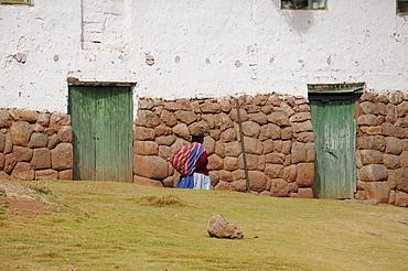 Elderly woman, Chinchero, Inca settlement, Quechua settlement, Peru, South America, Latin America