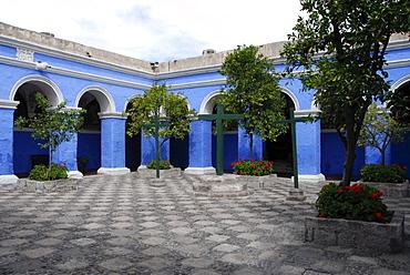 Courtyard, Santa Catalina monastery, Arequipa, Inca settlement, Quechua settlement, nunnery, Peru, South America, Latin America