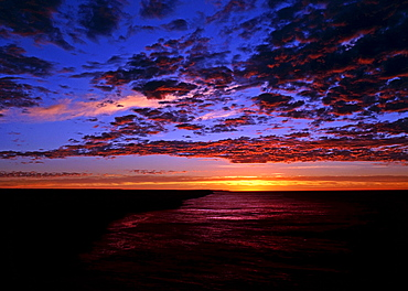 Early morning, sunrise and clouds over the Great Australian Bight, Australia