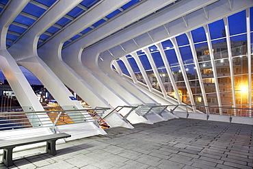 Gare de Liege-Guillemins train station by architect Santiago Calatrava in Liege, Belgium, Europe