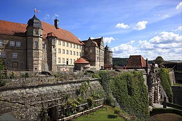 Captain's Tower and inner castle, Veste Rosenberg Castle, Kronach, Upper Franconia, Bavaria, Germany, Europe
