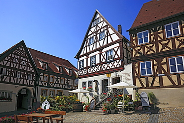 Upper Market Square in Zeil am Main, Hassberge district, Lower Franconia, Bavaria, Germany, Europe