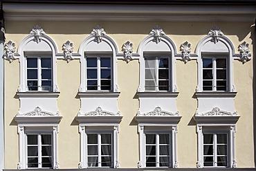 Windows on a facade