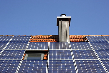 Photovoltaic system on a rooftop