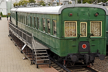 A governmental waggon for Soviet leaders, exhibit, Moscow Railway Museum, Moscow, Russia