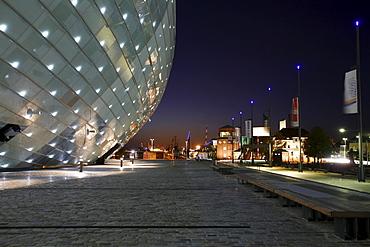 Science City building, Klimahaus Bremerhaven 8 ∞ East, science museum, Bremerhaven, Bremen, Germany, Europe