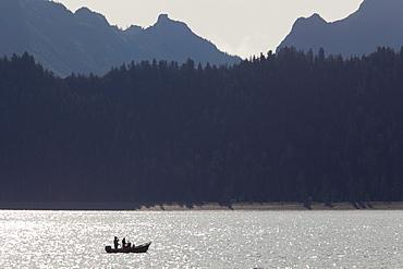 A sport fishing boat in Resurrection Bay, Seward, Alaska, USA
