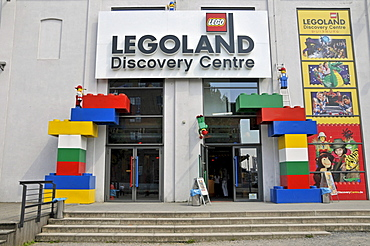 Entrance to Legoland Discovery Center Duisburg, Inner Harbour, Duisburg, North Rhine-Westphalia, Germany, Europe