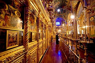 Royal Kykkos monastery, courtyard, Orthodox monastery, icons, mosaics, Troodos Mountains, Cyprus, Greece, Europe