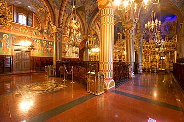 Royal Kykkos Monastery, Orthodox church, monastery church, nave, Troodos Mountains, Cyprus, Greece, Europe