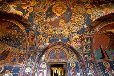 Panagia Forviotissa Asinou Church, Byzantine church, icon, Troodos Mountains, Cyprus, Greece, Europe