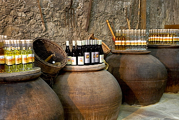 Wine cellar, barrels, wine, Cyprus, Greece, Europe