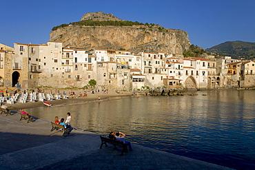 Fishing port, beach, Cefalu, Province of Palermo, Sicily, Italy, Europe
