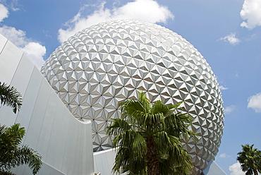 Spaceship Earth at Epcot, Walt Disney World Resort, Florida, USA