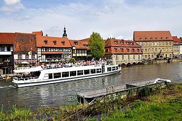 """Little Venice"" on the Regnitz river, Bamberg, Upper Franconia, Bavaria, Germany, Europe"