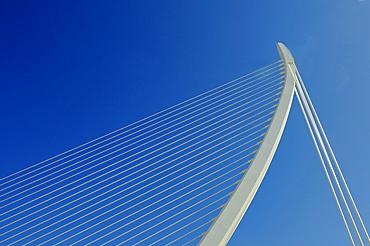 Modern Bridge, Ciudad de las Artes y de las Ciencias, City of Arts and Sciences, architect Santiago Calatrava, Valencia, Spain, Europe