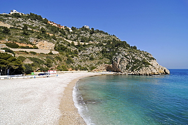 Playa Della Grana, beach, coast, Mediterranean Sea, Javea, Costa Blanca, Alicante, Spain, Europe