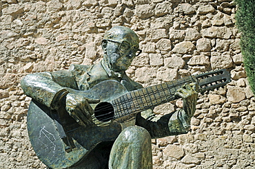 Sculpture, Simon Mellado, guitarist, guitar, musician, Lorca, Murcia, Spain, Europe