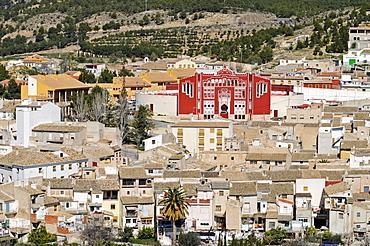 Cityscape, bullfighting arena, Caravaca de la Cruz, sacred city, Murcia, Spain, Europe