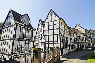 Half-timbered houses, historic town, Hattingen, North Rhine-Westphalia, Germany, Europe