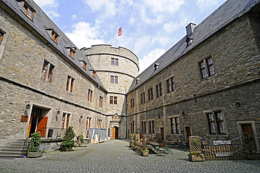 North Tower, Wewelsburg, triangular castle, former Nazi cult and terror center of the ss, today historical museum, hostel, Bueren, Paderborn, North Rhine-Westphalia, Germany, Europe