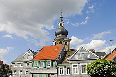 Lutheran Church, historic centre, Lennep, Remscheid, Bergisches Land area, North Rhine-Westphalia, Germany, Europe