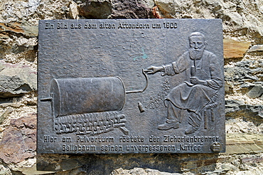 Chicory roaster, coffee, historical display at the Pulverturm powder tower, Attendorn, Sauerland district, North Rhine-Westphalia, Germany, Europe