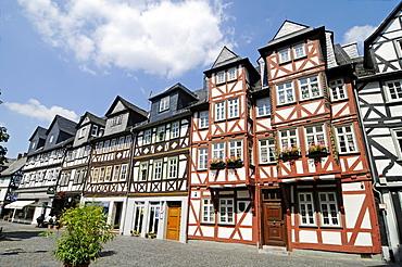 Jerusalemhaus house, home of Karl Wilhelm Jerusalem, Goethe memorial, historic half-timbered houses, Schillerplatz square, historic centre, Wetzlar, Hesse, Germany, Europe