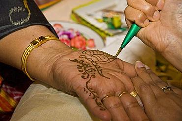 Indian Henna-Tatoo on the palm