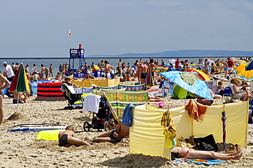 People on the beach of Swinoujscie, Usedom Island, Poland, Europe