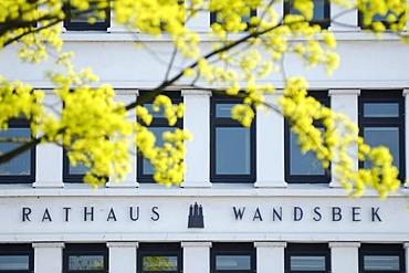 Wandsbek town hall in Hamburg, Germany, Europe